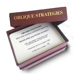 Eno's Oblique Strategies cards