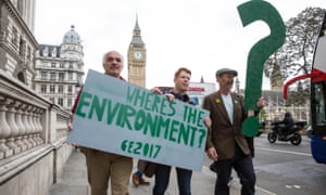 Green party campaigners highlight absence of environment from campaigning dominated by Brexit and immigration.