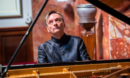 Perfectly pitched ... Stephen Hough rehearses for today's live concert from Wigmore Hall, in association with BBC Radio 3.