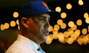 Carlos Beltran talks to the media after being introduced as the manager of the New York Mets in November