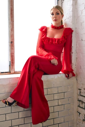 Katherine Ryan. Stylist: Jennifer Michalski-Bray; hair and makeup: Fiona Eustace; jumpsuit: Ong-Oaj Pairam; shoes: Malone Souliers; jewellery: Annoushka.