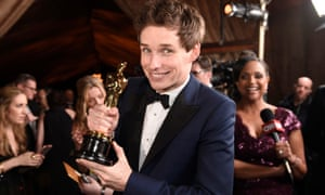 Eddie Redmayne winning an Oscar last year for The Theory of Everything.
