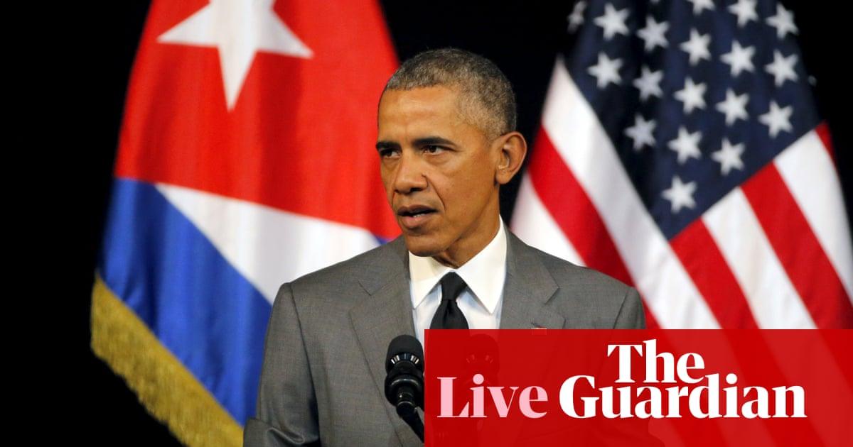 e030c3b4efe9d3 Obama focuses on change for Cuba in final Havana speech – as it happened