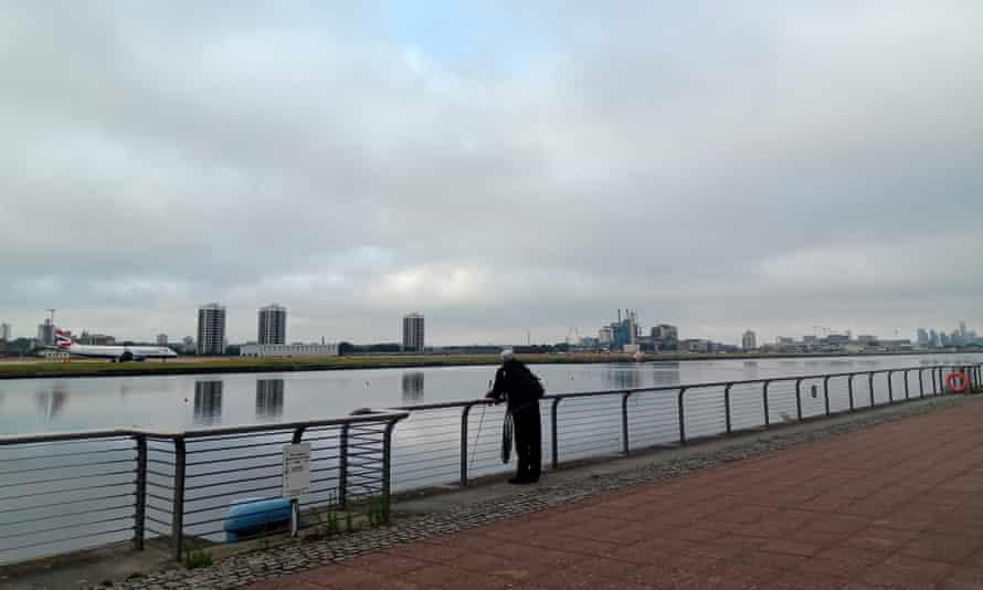 Fishing opposite London City airport.