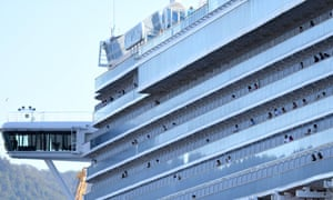 The Ruby Princess, with crew only onboard, docks at Port Kembla.