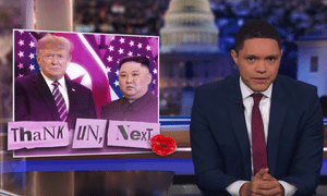 Trevor Noah: 'Kim wanted Trump to give everything up, but before he did, Trump wanted guarantees in exchange. Classic relationship dilemma.'