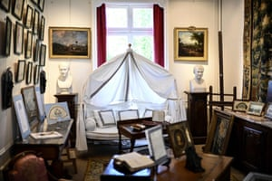 Items belonging to Napoleon are displayed before they go under the hammer at Osenat auction house in Fontainebleau, south of Paris