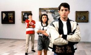 Alan Ruck, Mia Sara and Matthew Broderick in Ferris Bueller's Day Off.