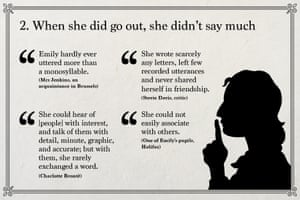 Emily Brontë: When she did go out, she didn't say much