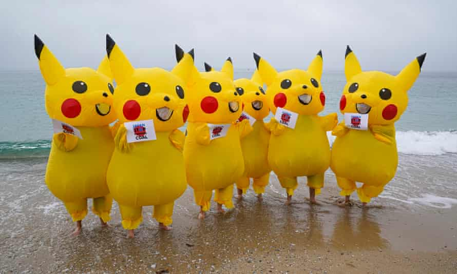 Pikachu protesters