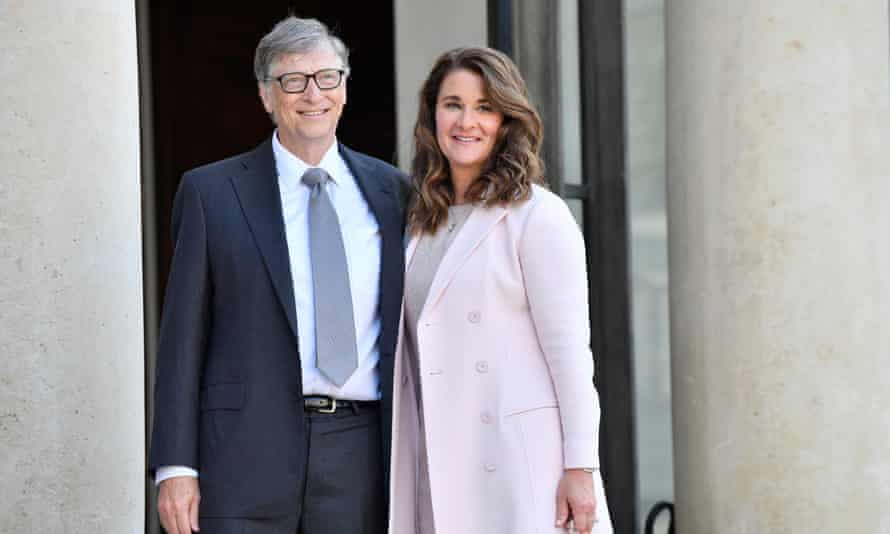 Microsoft co-founder Bill Gates and partner Melinda pioctured at the Elysée Palace in 2017.