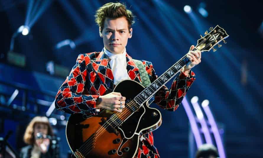 Harry Styles on stage in Las Vegas