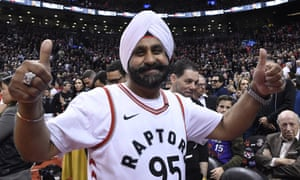 Toronto Raptors fan Nav Bhatia at Scotiabank Arena
