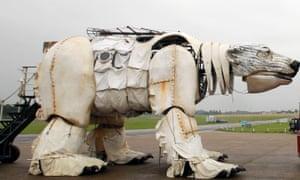 Greenpeace's mechanical polar bear