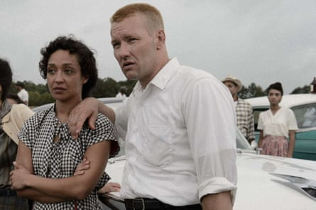 Negga and Joel Edgerton on the set of Loving.