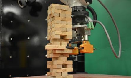 robot playing Jenga