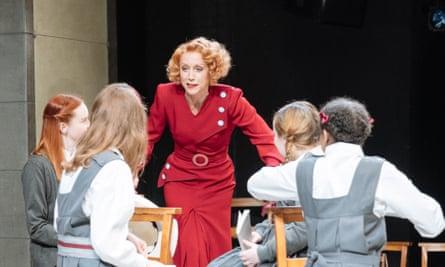 Lia Williams, centre, in The Prime of Miss Jean Brodie.