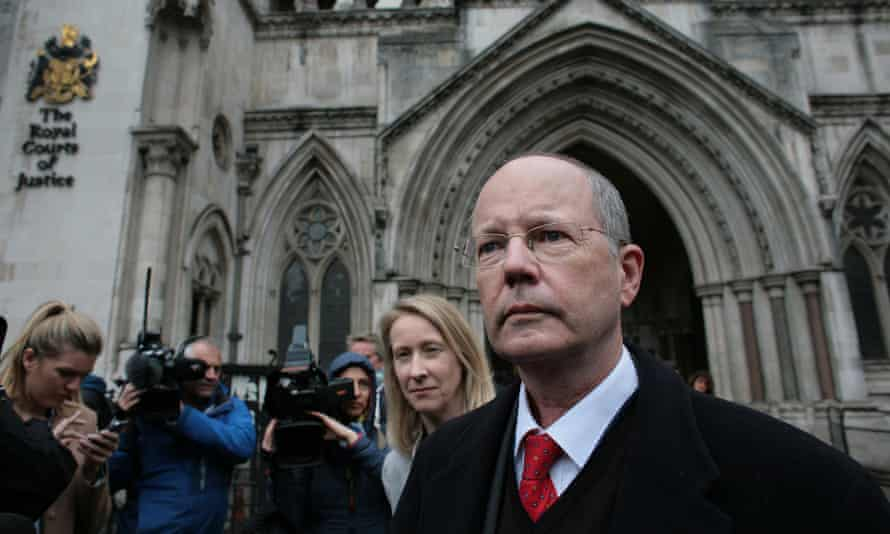 .'An unusual radical': James Thornton of ClientEarth at the Royal Courts of Justice last month.