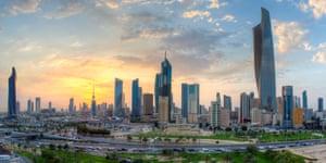 Kuwait City's central business district.