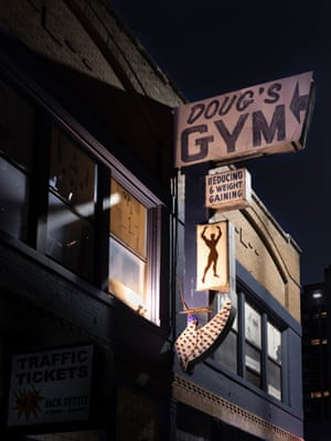 The exterior of the gym in downtown Dallas