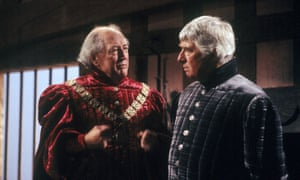 Bernard Hepton, left, and Paul Rogers in an ITV production of Christopher Fry's The Lady's Not for Burning, 1987
