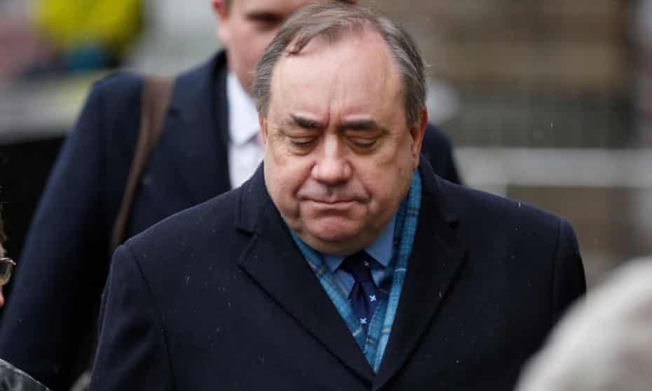 Alex Salmond leaves the high court in Edinburgh on Tuesday.