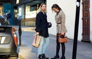 Street-style influencers Irina and Lydia.