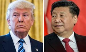 Donald Trump (left) and Xi Jinping