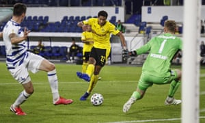 Jude Bellingham became Dortmund's youngest ever scorer against Duisburg on Monday.