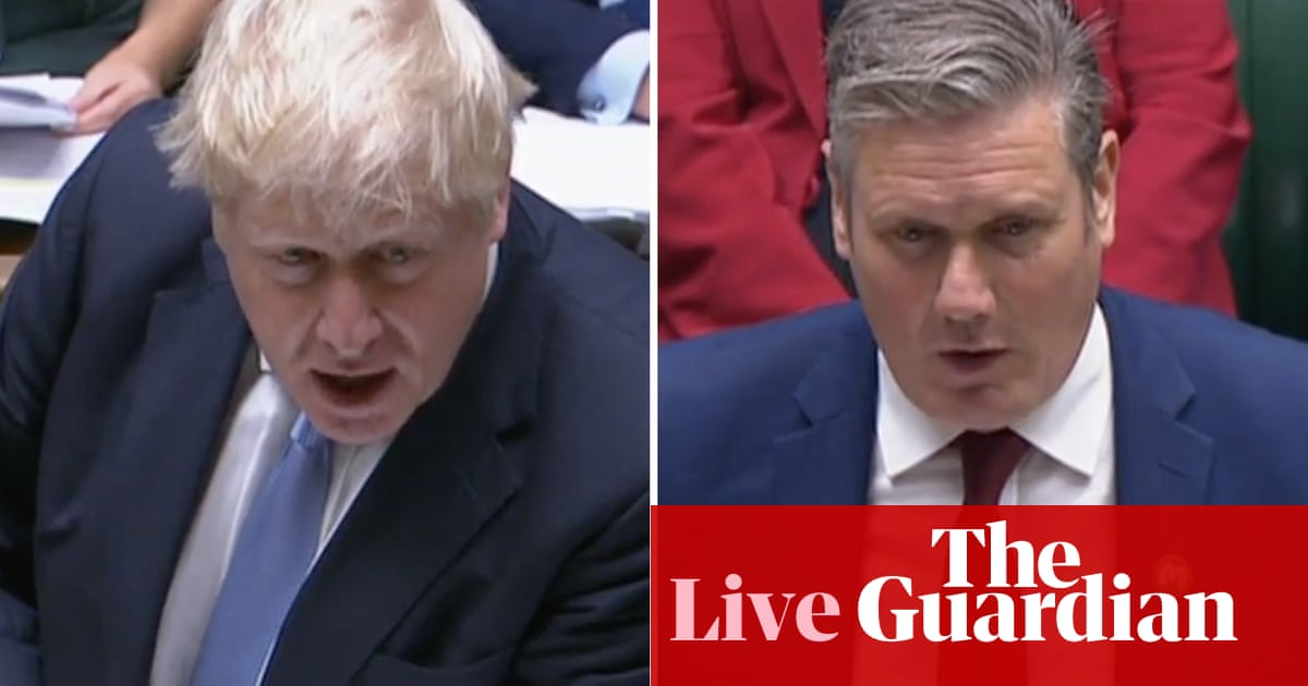 PMQs: Boris Johnson faces Keir Starmer before debate on tax rise for health and social care – live