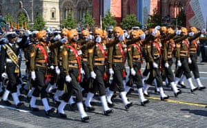 A parade formation of the Indian Armed Forces