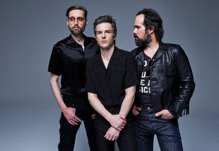 From left, Mark Stoermer, Brandon Flowers and Ronnie Vannucci of the Killers.