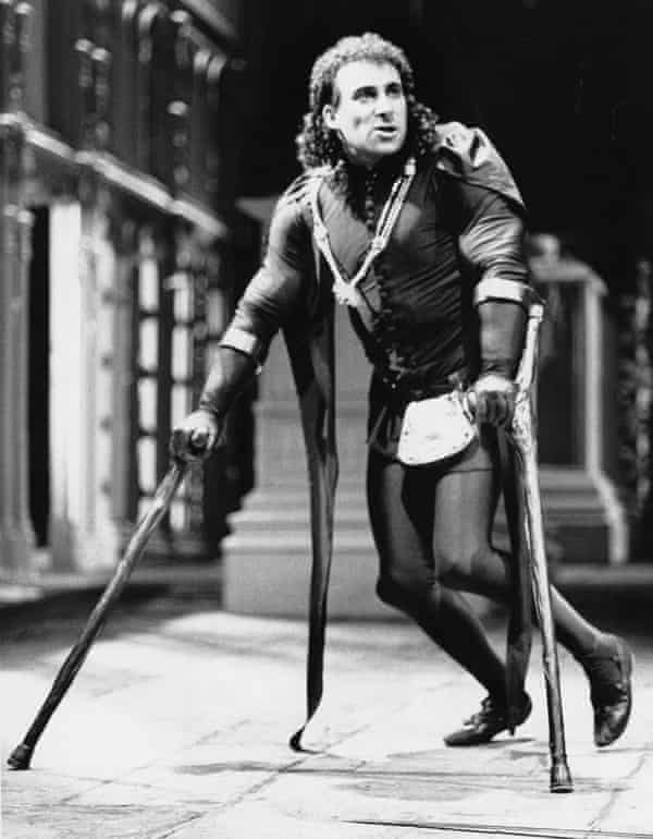 The career of crutches … Antony Sher as Richard III in 1984 – the crutches occasionally crop up again.