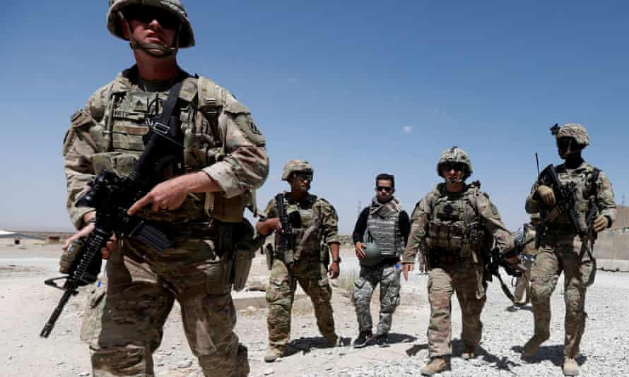 US troops on patrol with Afghan security forces in Logar province