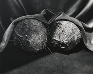 'As suggestive as they would be in a Carry On film'... Robert Mapplethorpe, Coconuts, 1985.
