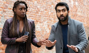 A succession of farcical situations … Issa Rae and Kumail Nanjiana in The Lovebirds.