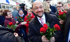The SPD's Martin Schulz on the campaign trail in Saarlouis this month.
