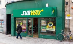 Subway sandwich shop in the UK.