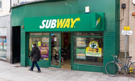 Subway sandwich shop in the UK.