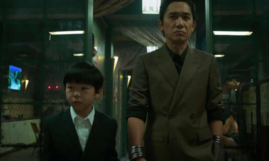 Jayden Zhang and Tony Leung in Shang-Chi and the Legend of the Ten Rings.