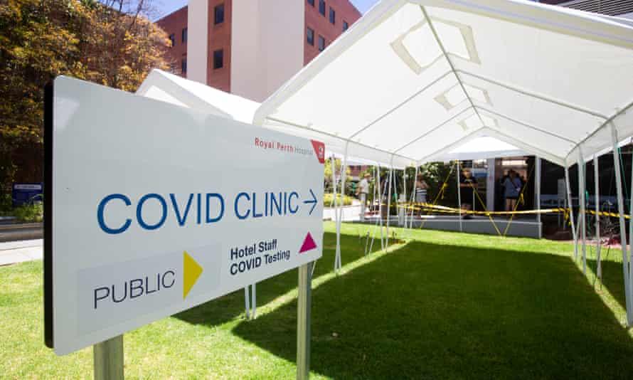 A Covid testing clinic in Perth