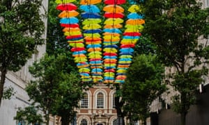 An umbrella canopy in Church Alley, Liverpool