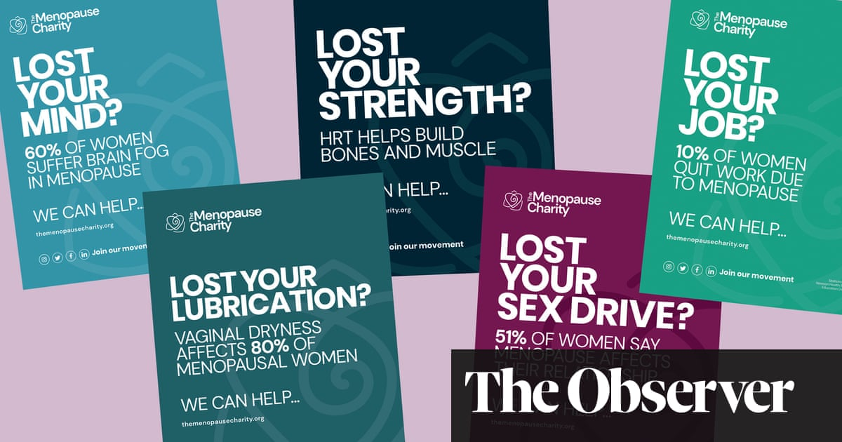 Celebrities join billboard drive to end taboo around the menopause