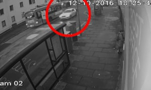 Still from CCTV footage issued by Northumbria police of Trimaan Dhillon driving away from the scene of the murder.