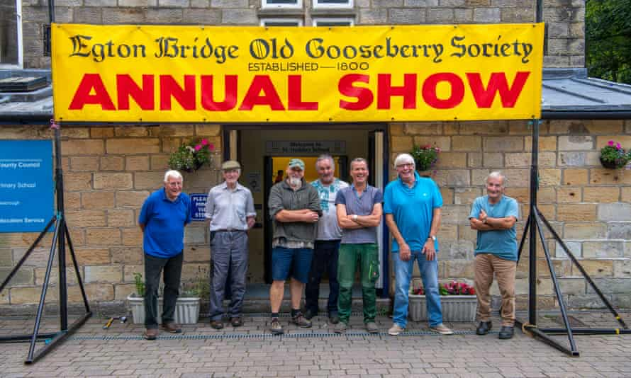 Setting up the night before the Egton Bridge Old Gooseberry society annual show, which was cancelled in 2020 due to the pandemic