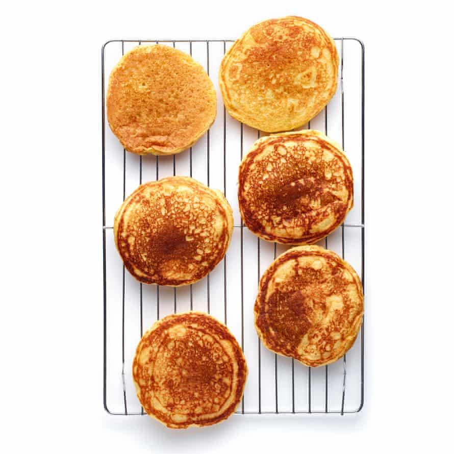 Felicity Cloake's Masterclass: American pancakes 06. When nice and brown on both sides, transfer to a wire rack.