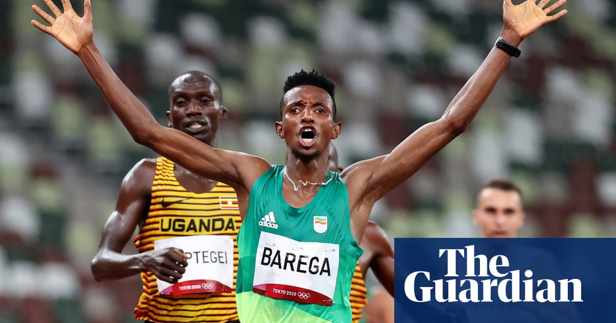 Barega wins first Tokyo athletics gold on opening night of tears and drama