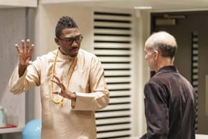 Kwame Kwei-Armah and Finbar Lynch in rehearsals for The Lady from the Sea at the Donmar Warehouse.