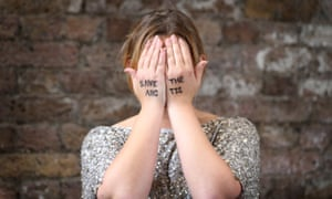 Singer Charlotte Church  with 'Save the Arctic' written on her hands