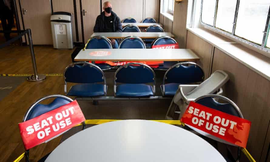 Social distancing measures on CalMac ferry